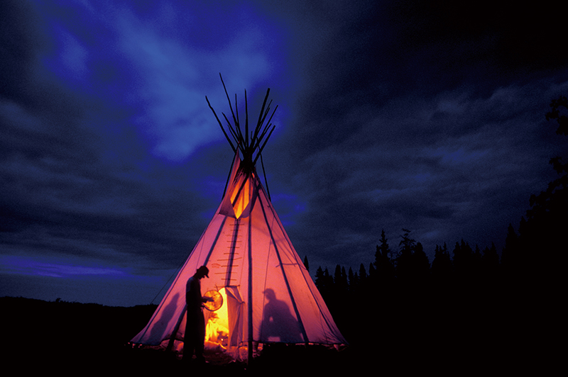 21-19 Tipi at night (T. Macintosh) 4x6.jpg